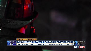 Woman dead after vacant rowhome fire in South Baltimore