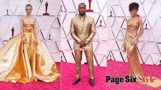 Carey Mulligan and other stars who shined in gold on the Oscars 2021 red carpet