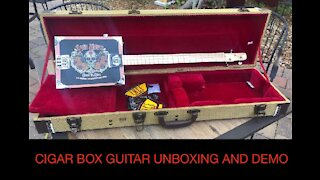 Unboxing Of A Cigar Box Guitar Made By LACE Music Products