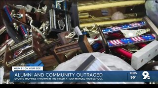 Parents and Students outraged over trashed trophies