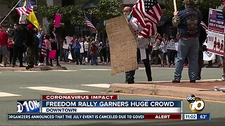 Freedom rally brings huge crowd amid COVID-19