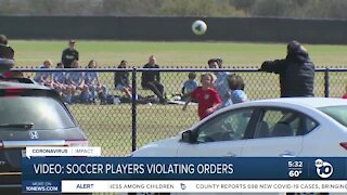 Video: Soccer player violating orders