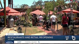 San Diego restaurants and retail reopening