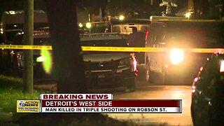 Man killed in triple shooting on Detroit's west side