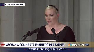 Meghan McCain pays tribute to her father