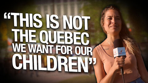 Quebec protesters demand public debate with health professionals and an end to the media censorship