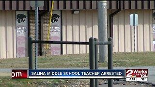 Salina middle school teacher arrested
