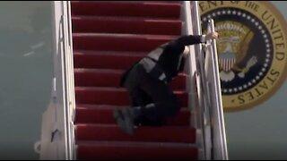 WATCH: Joe Biden Battles Stairs, Loses Badly