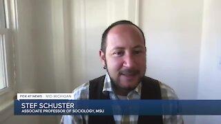 Stef Schuster, a MSU sociology professor