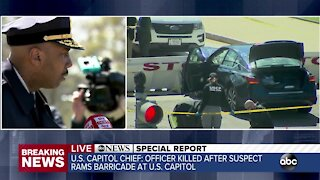 ABC News Special Report: Capitol Police officer killed after suspect rams barricade at US Capitol