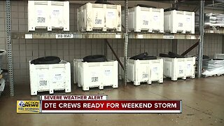 DTE prepping for weekend storm