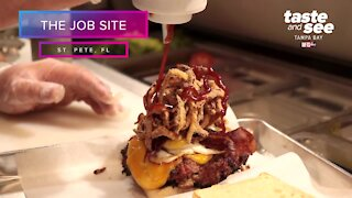 Create custom-stuffed burgers at The Job Site in St. Pete | Taste and See Tampa Bay