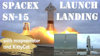 Launch And Landing of SpaceX's SN15 Starship Suborbital Flight. No Commentary (Clean Audio).