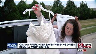 Firefighter Saves Wedding Dress