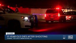Teen dies after west Valley shooting