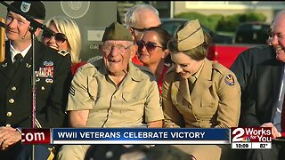 WWII veterans celebrate victory