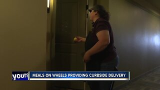 Meals on Wheels provides curbside delivery