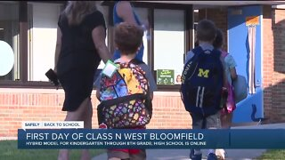 First day of class in West Bloomfield