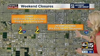 Valley Weekend Traffic Advisory: April 5-8
