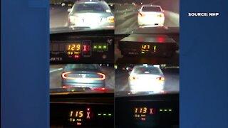 NHP pulls over 4 cars for speeding