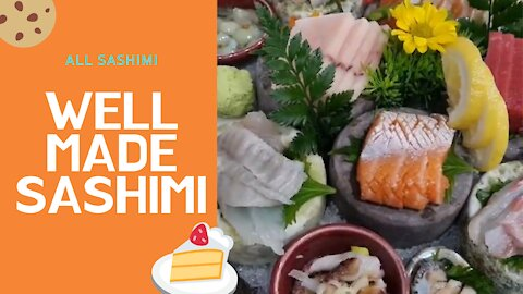 All sashimi dishes