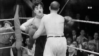 charlie chaplin boxing funny video