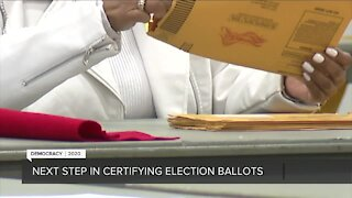 Next step in certifying election ballots