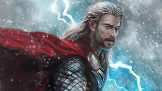 Board Painting: Portrait of Thor