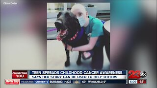 Teen wants story to spread childhood cancer awareness