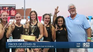Chandler High School swim coach in ICU due to COVID-19