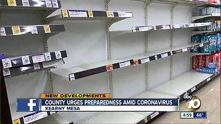 County urges preparedness amid Coronavirus