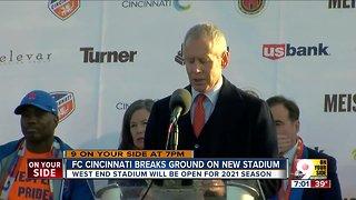 FC Cincinnati breaks ground on new stadium