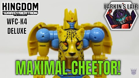 Transformers Kingdom Deluxe Cheetor Review WFC-K4 (Retail Release), Larkin's Lair