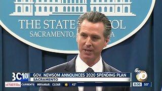 Gov. Newsom announces 2020 spending plan
