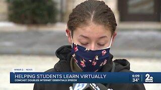 Comcast doubles internet essentials speeds for Baltimore students