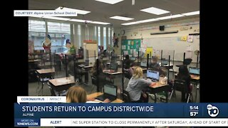 Alpine school districts begins full in-person learning