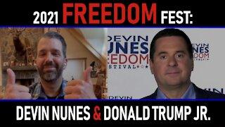 2021 Freedom Fest: Devin Nunes and Donald Trump Jr.