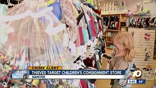 Thieves target children's consignment store