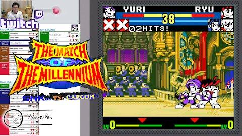 (NeoGeo Pocket Color) SNK vs. Capcom MotM - 28 - Team Mode - Mighty Trio - Lv Gamer