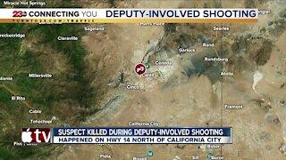 Suspect killed during deputy-involved shooting near California City
