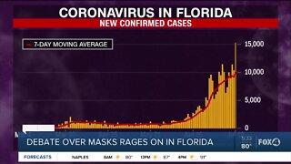 Debate over masks rages on in Florida