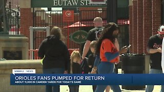 Orioles fans pumped for season home opener
