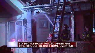 6 people, including toddler, hospitalized after house fire in southwest Detroit