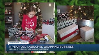 11-year-old launches wrapping business to buy mother Christmas gift