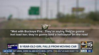 8-year-old girl falls from moving car