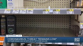 """Coronavirus threat """"remains low"""""""