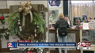 Small businesses in Broken Arrow struggling this holiday season as more shoppers move online