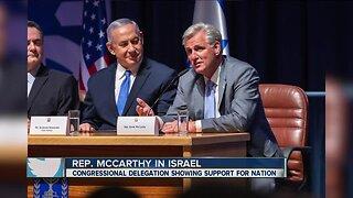Congressman Kevin McCarthy among 70 Congress members in Israel