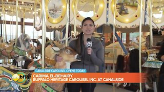 Canalside Carousel Opens Today