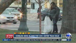 Some say litter from homeless at Denver's Civic Center Park becoming a problem